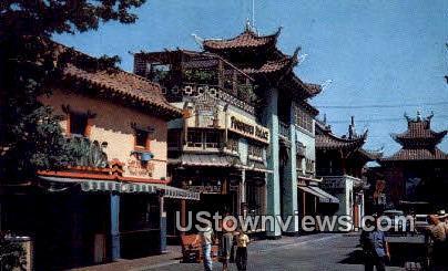 China Town - Los Angeles, California CA Postcard