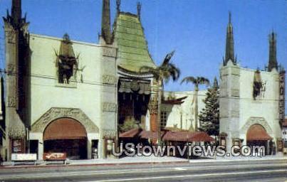 Grauman's Chinese Theatre - Hollywood, California CA Postcard