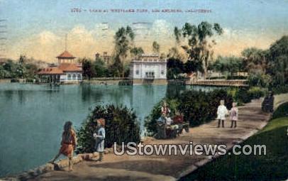 Lake, Westlake Park - Los Angeles, California CA Postcard