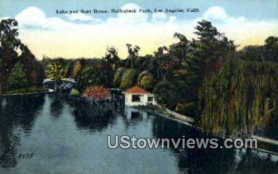 Hollenbeck Park - Los Angeles, California CA Postcard