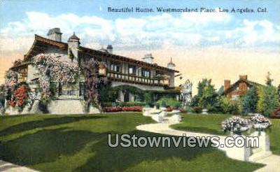 Westmoreland Place, Home - Los Angeles, California CA Postcard