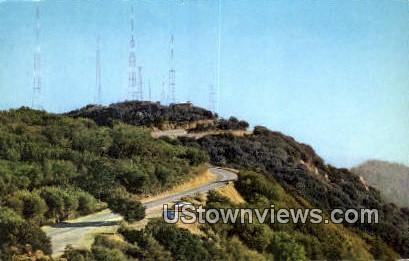 Television Transmitters - Los Angeles, California CA Postcard