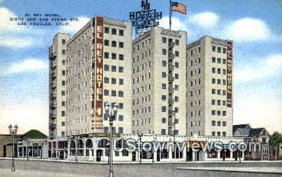 El Rey Hotel - Los Angeles, California CA Postcard