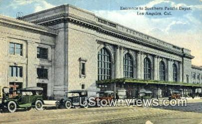 Southern Pacific Depot - Los Angeles, California CA Postcard