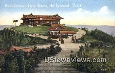 Bernheimer Residence - Hollywood, California CA Postcard