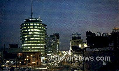 Vine Street - Hollywood, California CA Postcard