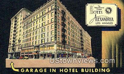 Hotel Alexandria - Los Angeles, California CA Postcard