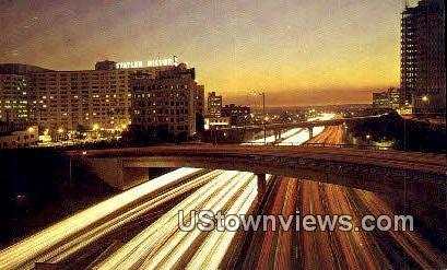 The Harbor Freeway - Los Angeles, California CA Postcard