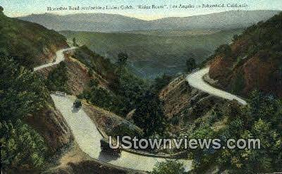 Horseshoe Bend, Liebre Gulch - Los Angeles, California CA Postcard