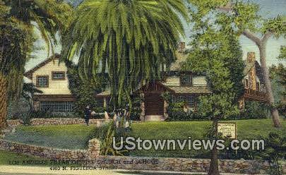 Pillar Of Fire Church & School - Los Angeles, California CA Postcard