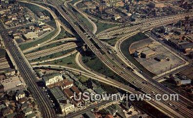 Los Angeles Freeway System - California CA Postcard