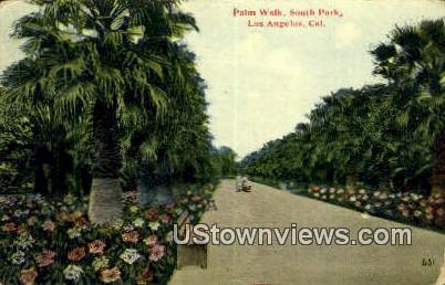 Palm Walk, South Park - Los Angeles, California CA Postcard