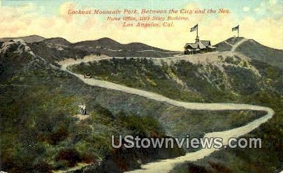 Lookout Mountain Park - Los Angeles, California CA Postcard