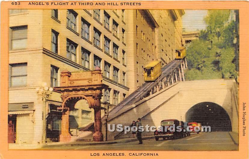 Angel's Flight - Los Angeles, California CA Postcard