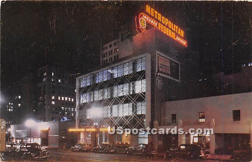 Metropolitan Federal Building - Los Angeles, California CA Postcard