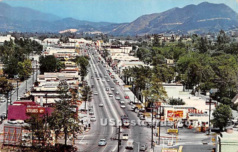 Ventura Boulevard, Studio City - Los Angeles, California CA Postcard
