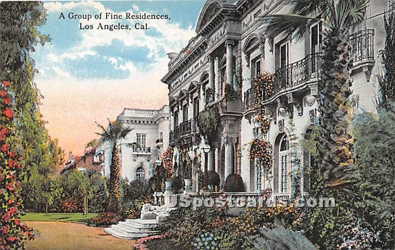 Group of Fine Residences - Los Angeles, California CA Postcard