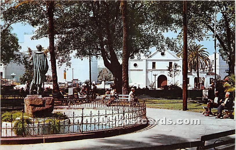 Los Angeles Plaza, Old Plaza Church - California CA Postcard