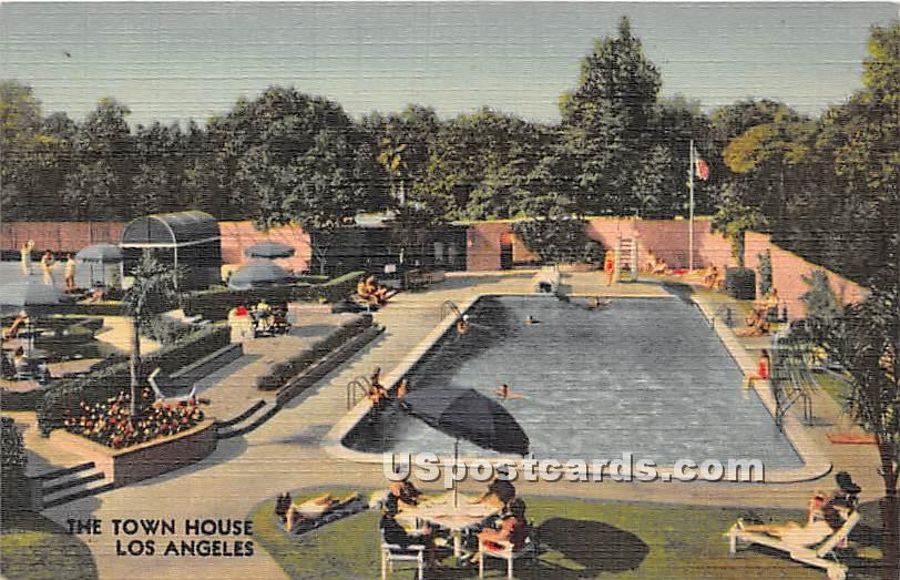 Town House - Los Angeles, California CA Postcard