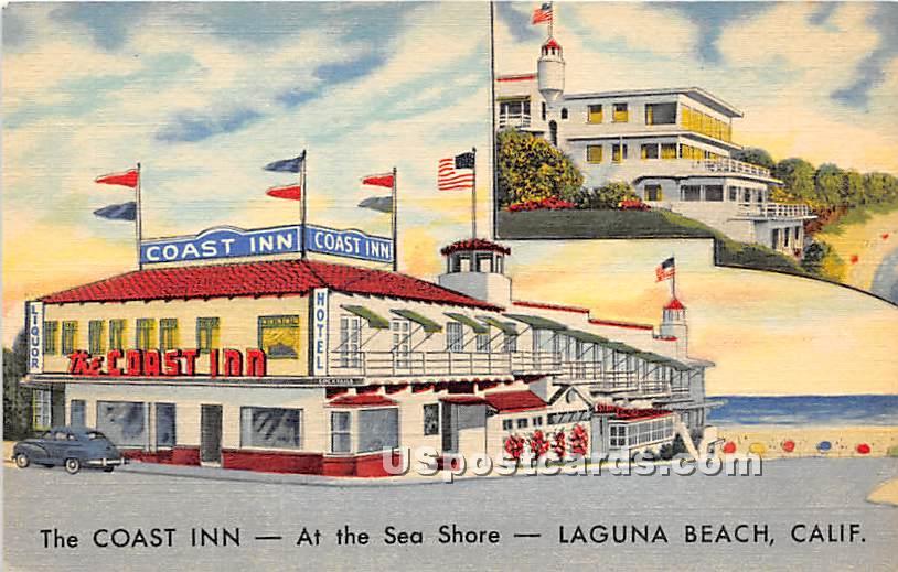 Coast Inn - Laguna Beach, California CA Postcard