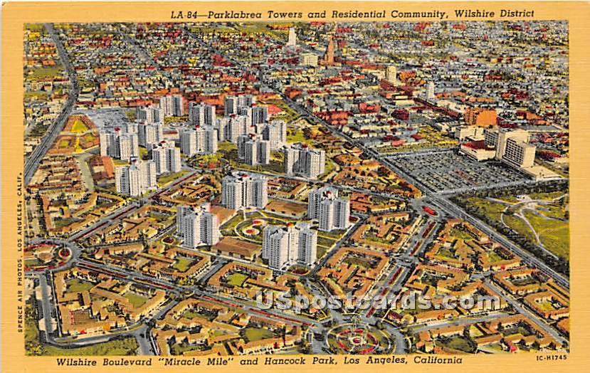 Parklabrea Towers - Los Angeles, California CA Postcard