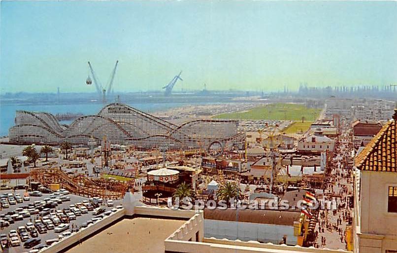 Pike & Fun Zone - Long Beach, California CA Postcard