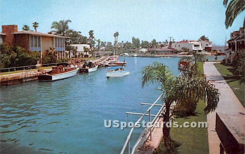Canal, Naples - Long Beach, California CA Postcard