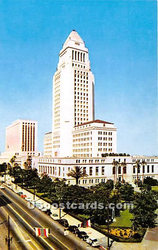 Los Angeles City Hall - California CA Postcard