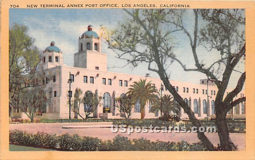 New Terminal Annex Post Office - Los Angeles, California CA Postcard