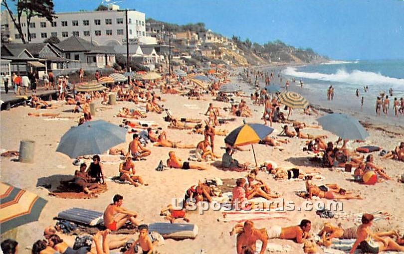 Main Beach - Laguna Beach, California CA Postcard