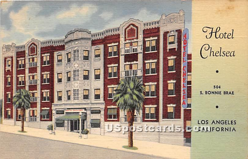 Hotel Chelsea - Los Angeles, California CA Postcard