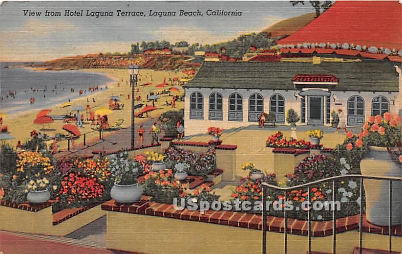 Hotel Laguna Terrace - Laguna Beach, California CA Postcard