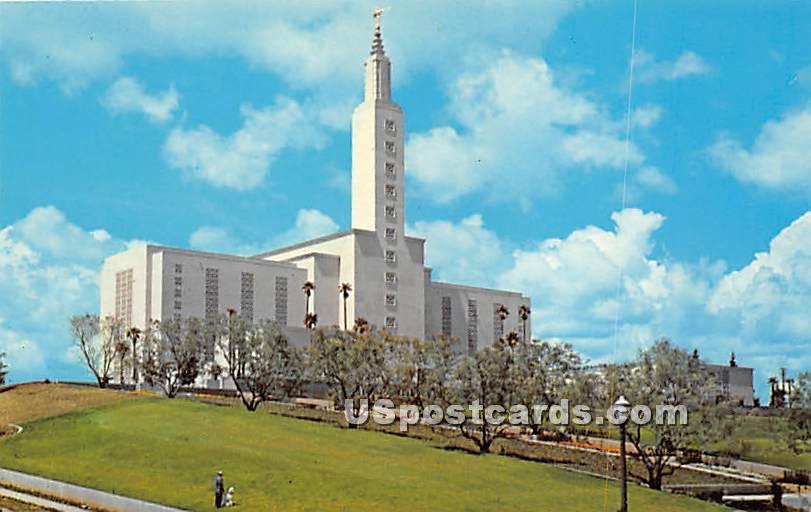 Los Angeles Temple - California CA Postcard