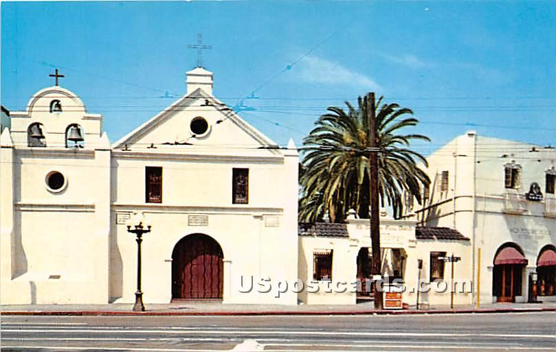 Old Plaza Mission - Los Angeles, California CA Postcard