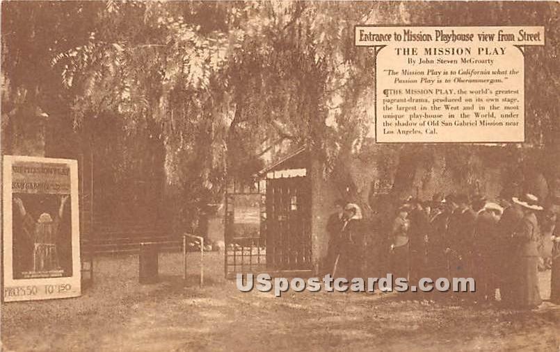 Mission Playhouse - Los Angeles, California CA Postcard