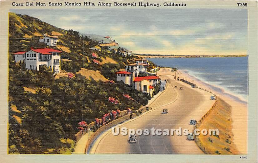 Casa Del Mar, Santa Monica Hills - Los Angeles, California CA Postcard