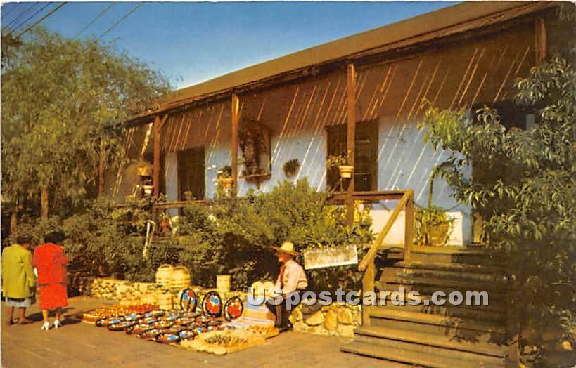 Avila Adobe, Olvera Street - Los Angeles, California CA Postcard