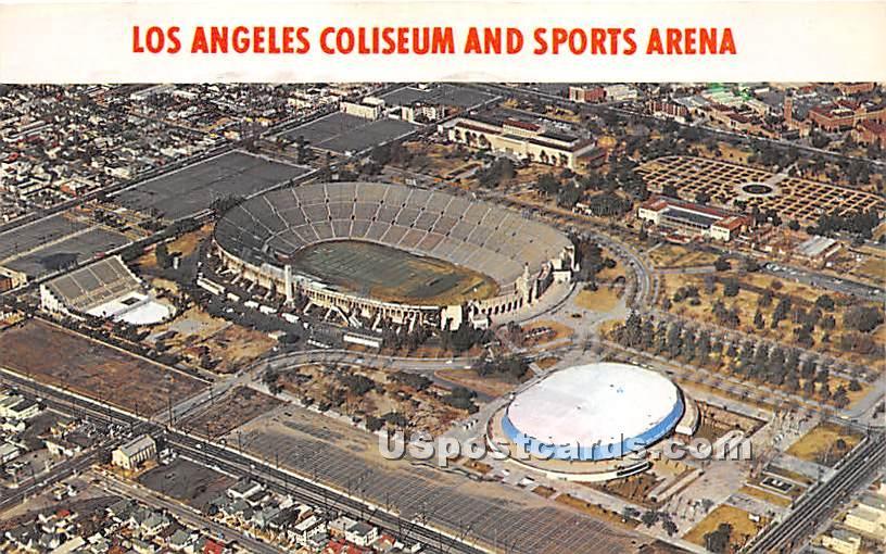 Los Angeles Coliseum & Sports Arena - California CA Postcard