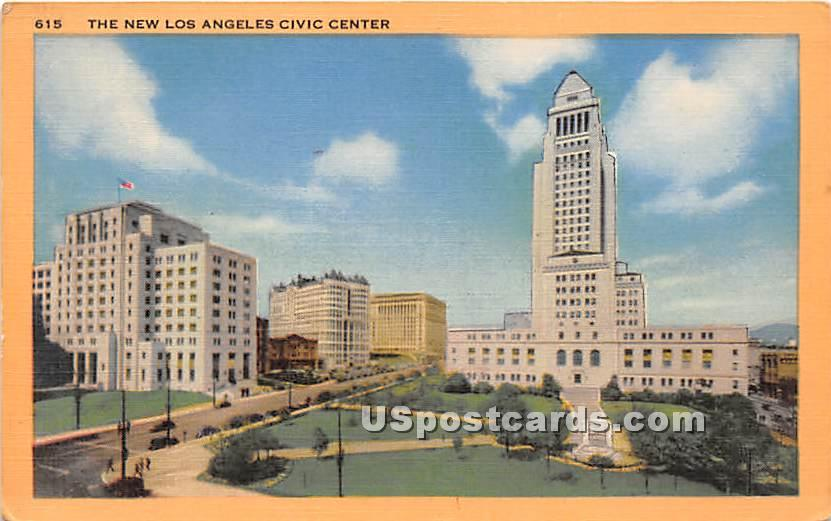 New Los Angeles Civic Center - California CA Postcard