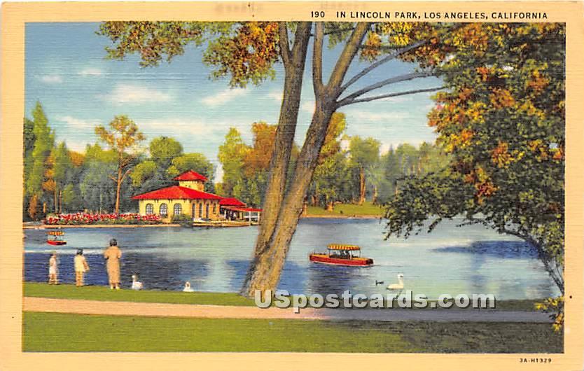 Lincoln Park - Los Angeles, California CA Postcard