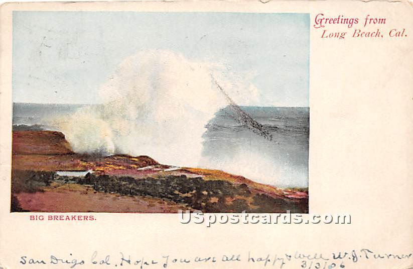 Greetings from - Long Beach, California CA Postcard