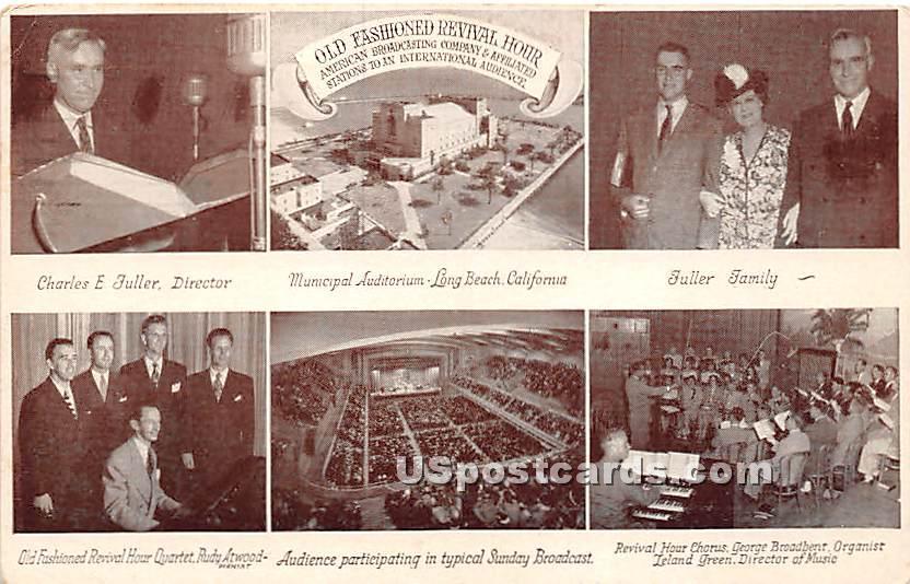Charles E Puller, Broadcasting Gospel - Long Beach, California CA Postcard