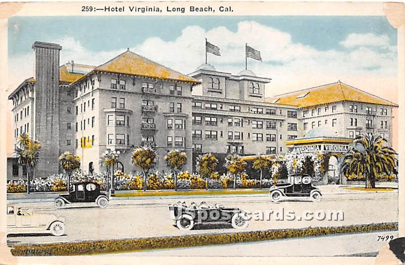 Hotel Virginia - Long Beach, California CA Postcard