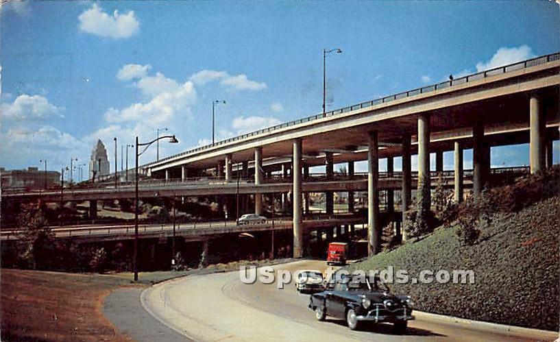 Freeway Stack - Los Angeles, California CA Postcard