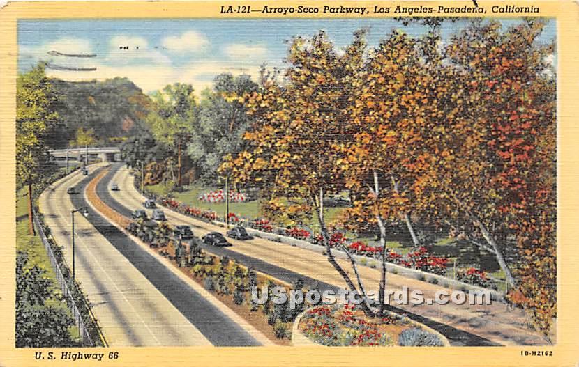 Arroyo Seco Parkway - Los Angeles, California CA Postcard