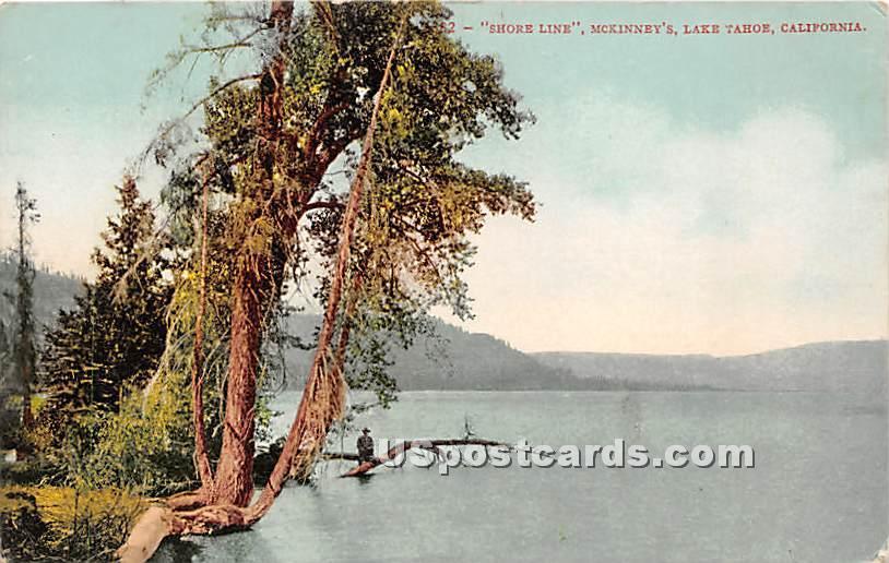 Shore Line, Mckinney's - Lake Tahoe, California CA Postcard