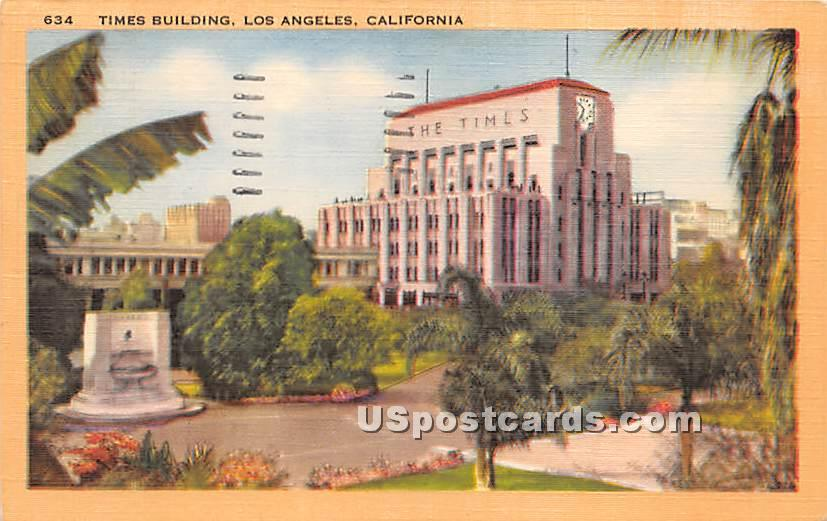Times Building - Los Angeles, California CA Postcard