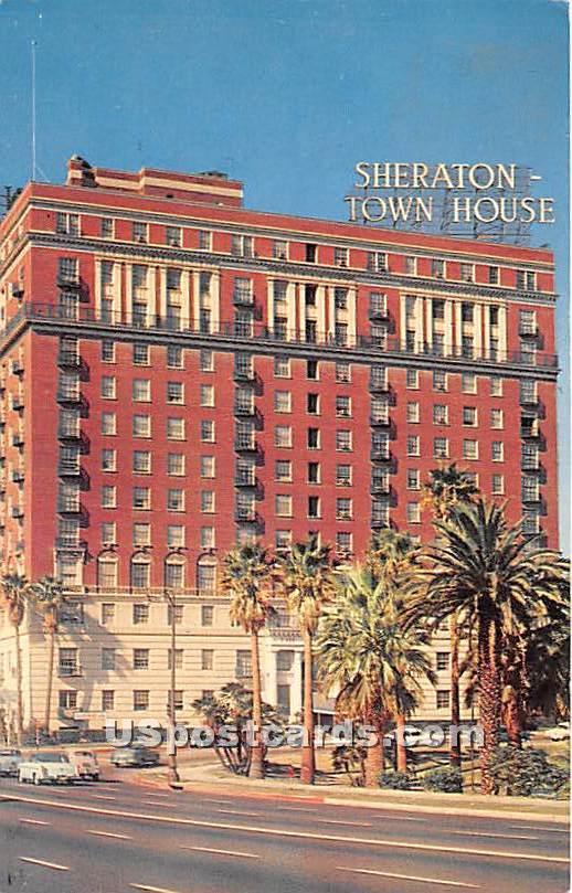 Sheraton Town House - Los Angeles, California CA Postcard