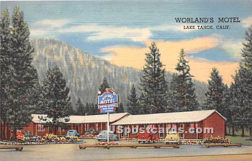 Worland's Motel - Lake Tahoe, California CA Postcard