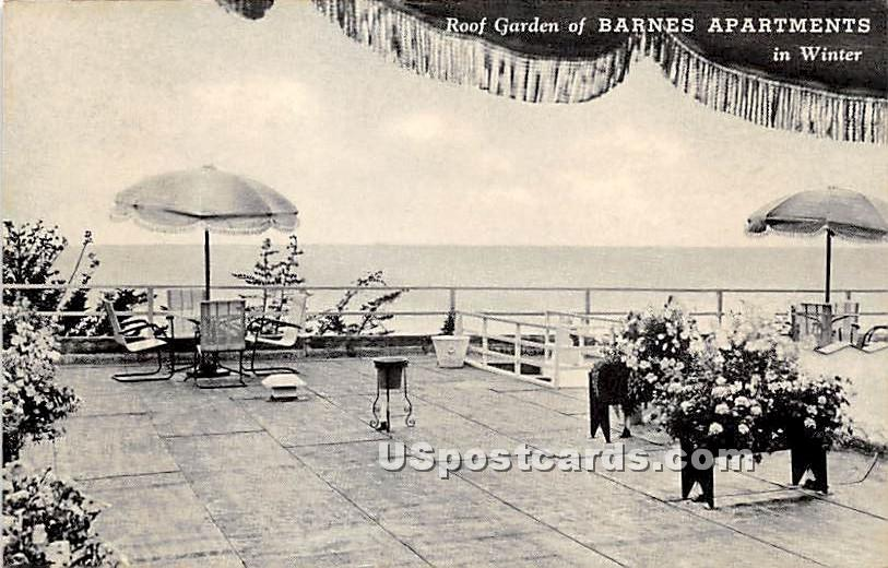 Barnes Apartments - Laguna Beach, California CA Postcard